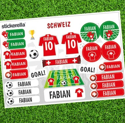 Fussball-Sticker-Sets